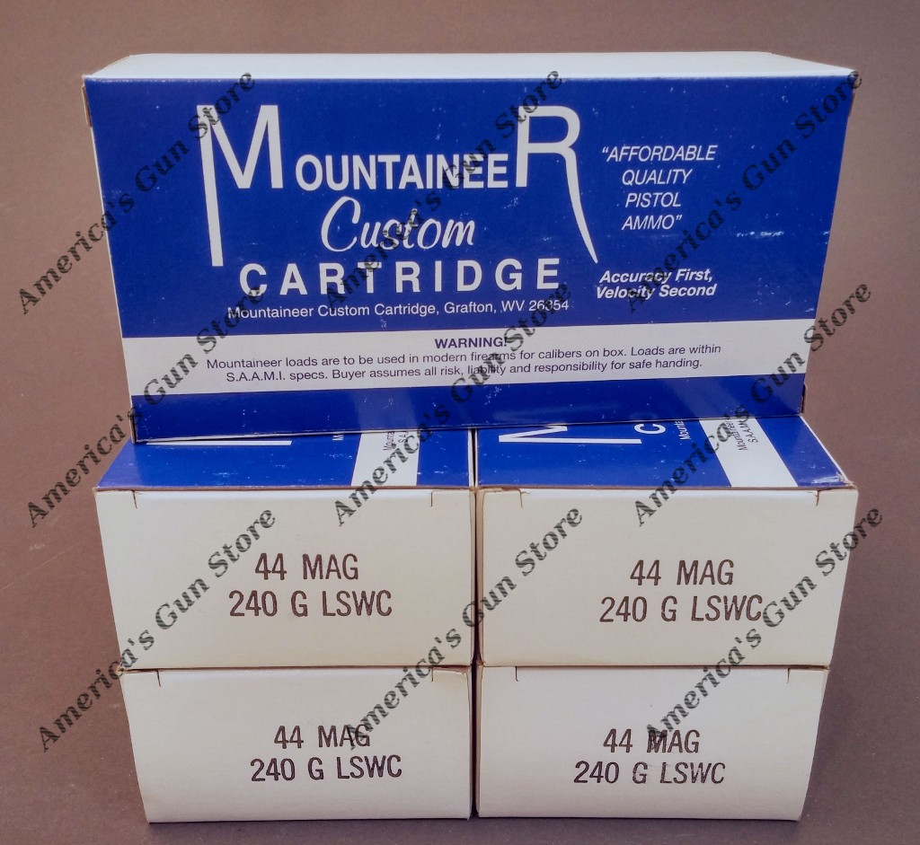 Mountaineer Custom Cartridge  44 Magnum 240gr Lead Semi Wad