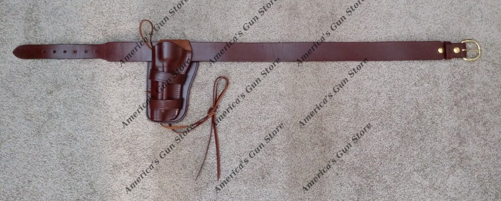 Circa 1890 Western Holster And Leather Pistol Cartridge