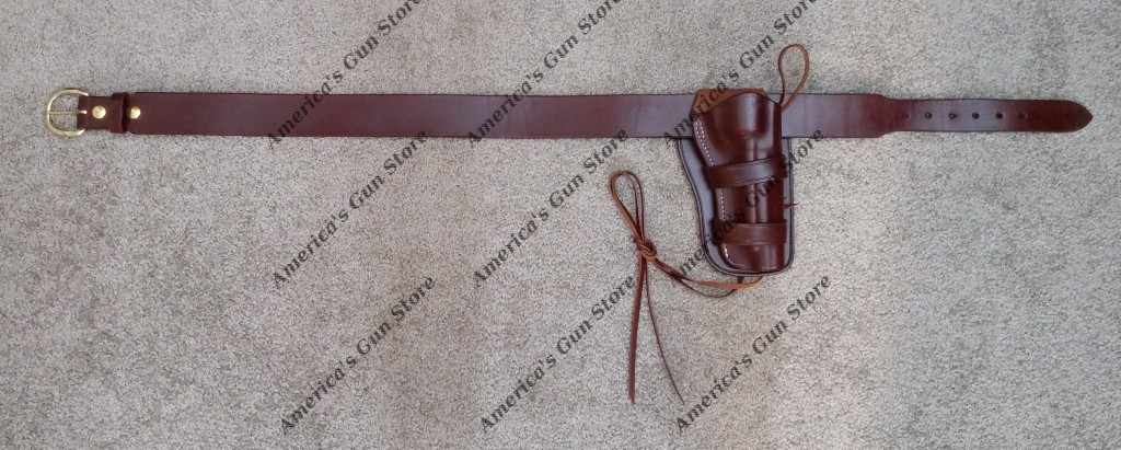 Circa 1890 Western Holster and Leather Pistol Cartridge Belt