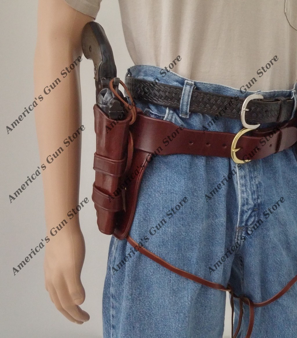 Circa 1890 Western Holster and Leather Pistol Cartridge Belt Rig