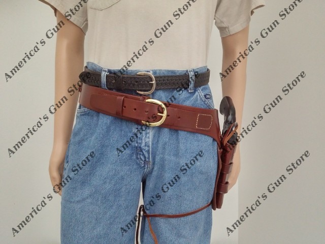 Wyoming Western Drop Belt And Circa 1890 Western Holster