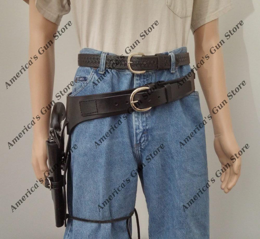 22 Ruger Colt S/&W Western Fast Draw Sixgun Pistol Leather Gun Holster Belt