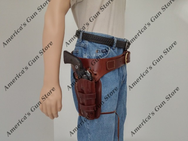 Wyoming Western Drop Belt and Circa 1890 Western Holster Rig