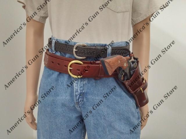 Triple K #740 & 115 – Deluxe Pistol Cartridge Belt and